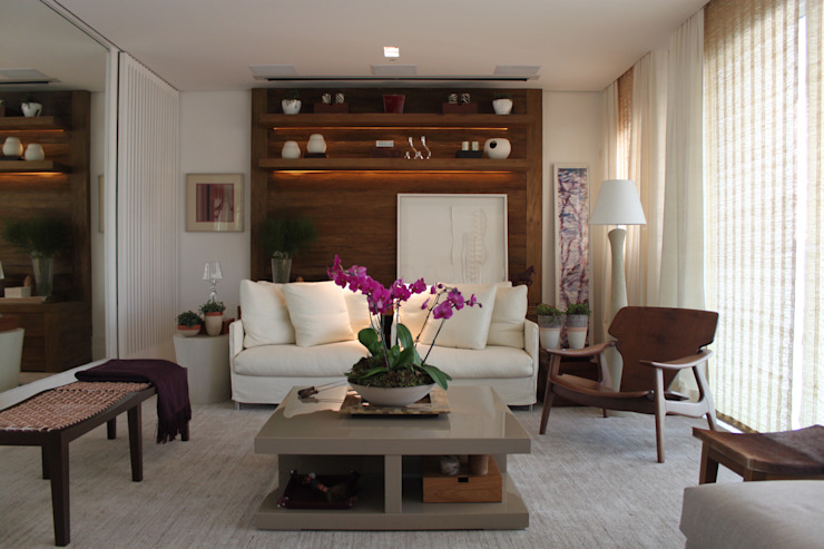 Living Apartamento São Paulo por Vaiano e Rossetto Arquitetura e Interiores Moderno