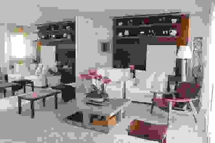 Living Apartamento São Paulo Salas de estar modernas por Vaiano e Rossetto Arquitetura e Interiores Moderno