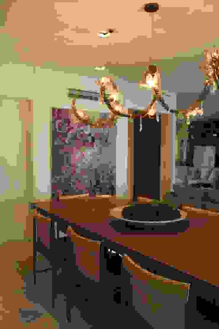 Detalhe Sala de Jantar Apartamento São Paulo Salas de jantar modernas por Vaiano e Rossetto Arquitetura e Interiores Moderno