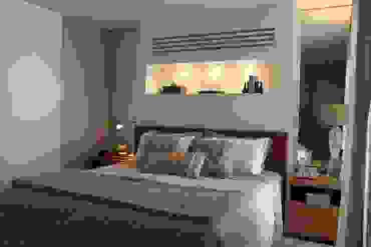 Quarto Apartamento São Paulo Quartos modernos por Vaiano e Rossetto Arquitetura e Interiores Moderno