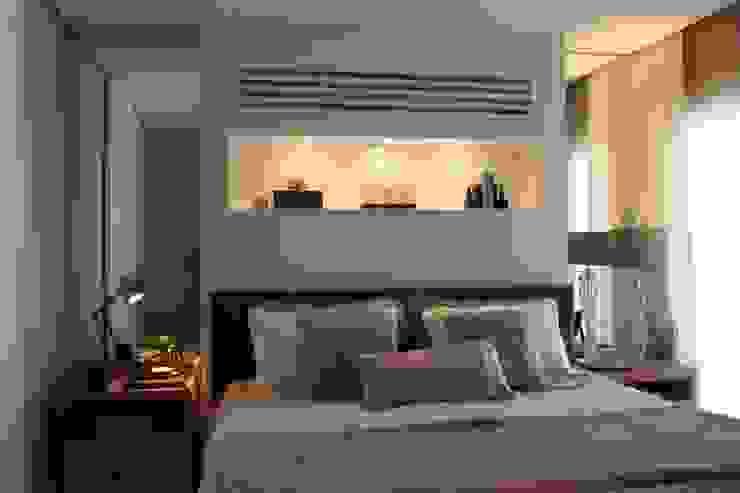 Detalhe quarto Apartamento São Paulo Quartos modernos por Vaiano e Rossetto Arquitetura e Interiores Moderno