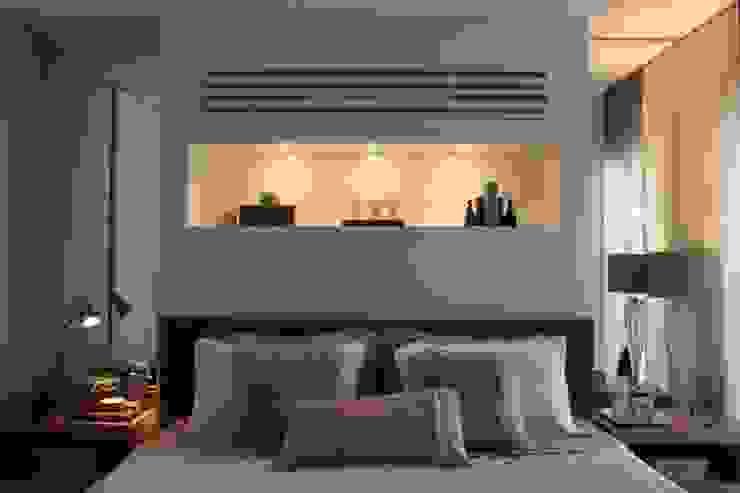 Detalhe Quarto Apartamento São Paulo por Vaiano e Rossetto Arquitetura e Interiores Moderno