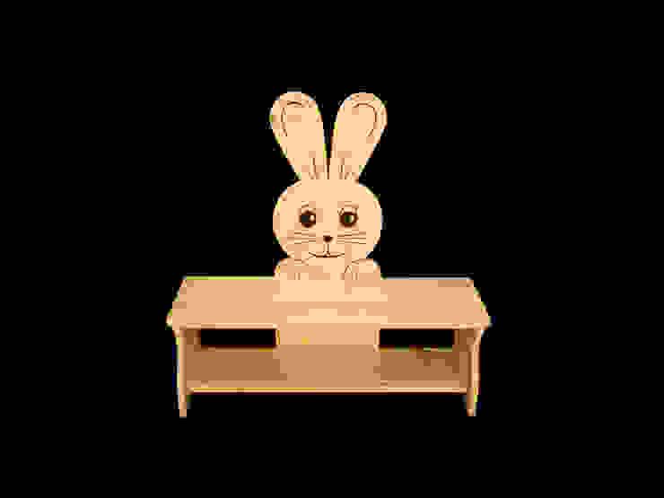 Kinderbank Hase von Kanaholz Ausgefallen Holz Holznachbildung