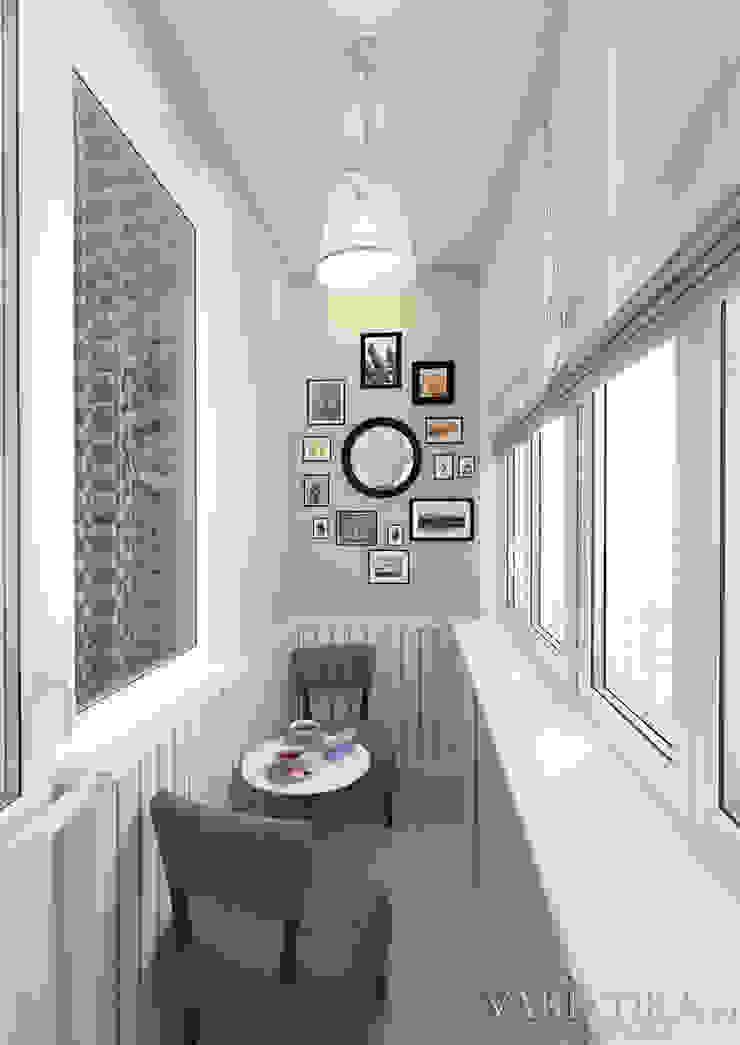 ЖК Life Волжская – 59 м² Балконы и веранды в эклектичном стиле от variatika Эклектичный