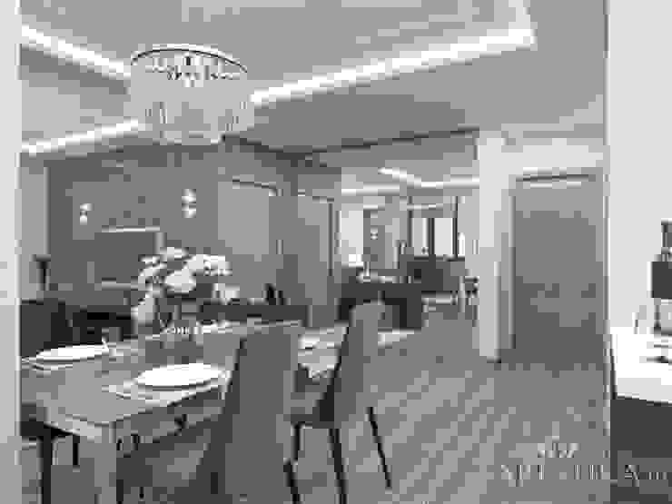 Дизайн квартиры в ЖК Гусарская Баллада Гостиные в эклектичном стиле от variatika Эклектичный