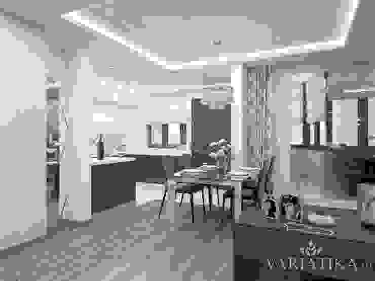 Дизайн квартиры в ЖК Гусарская Баллада Кухни в эклектичном стиле от variatika Эклектичный