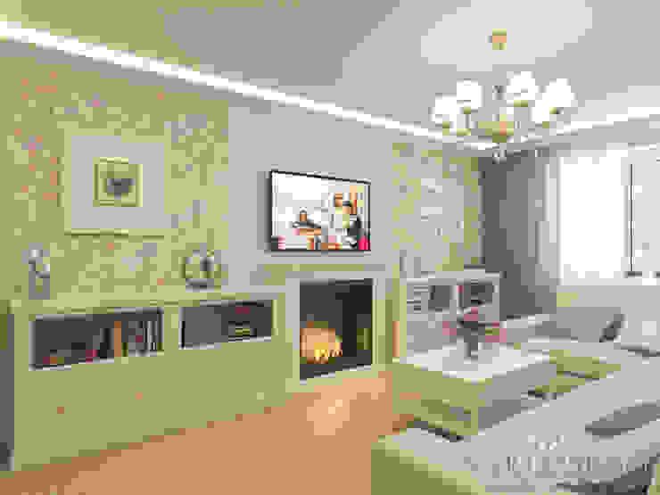 Дизайн интерьера квартиры площадью в г.Мытищи, 100 кв.м. Гостиная в классическом стиле от variatika Классический