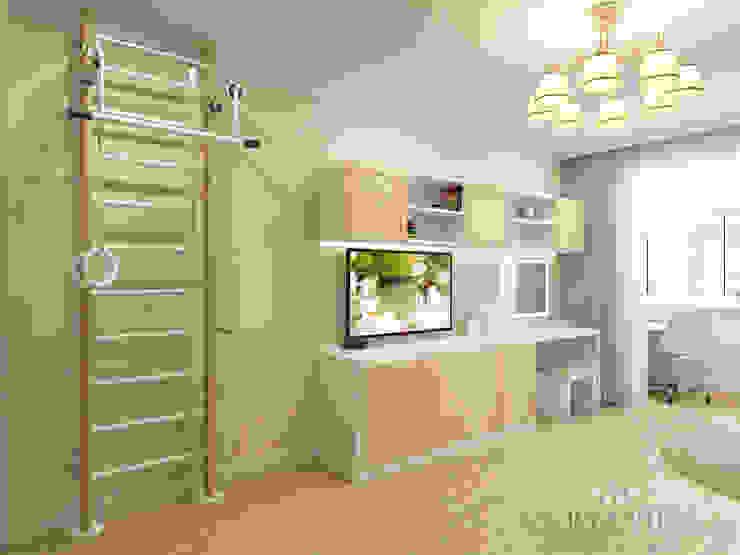 Дизайн интерьера квартиры площадью в г.Мытищи, 100 кв.м. Детская комната в стиле модерн от variatika Модерн