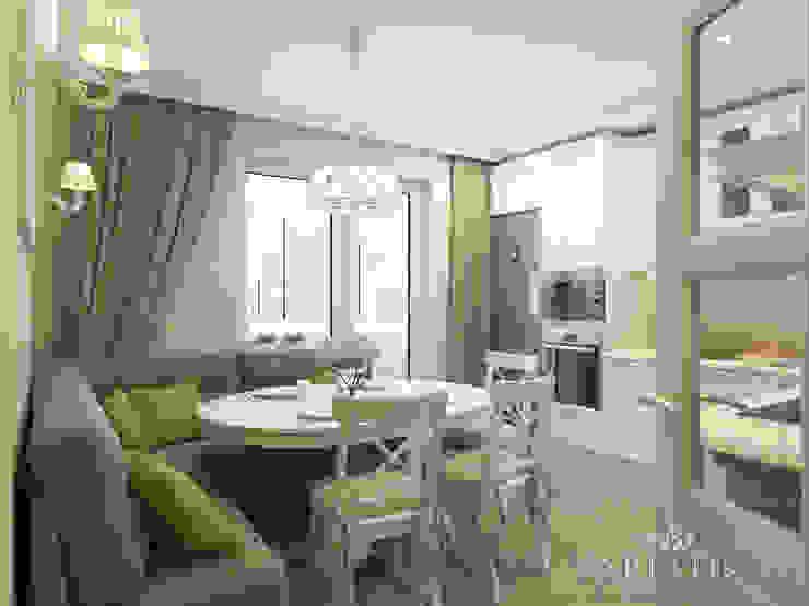 Дизайн интерьера квартиры площадью в г.Мытищи, 100 кв.м. Кухня в классическом стиле от variatika Классический