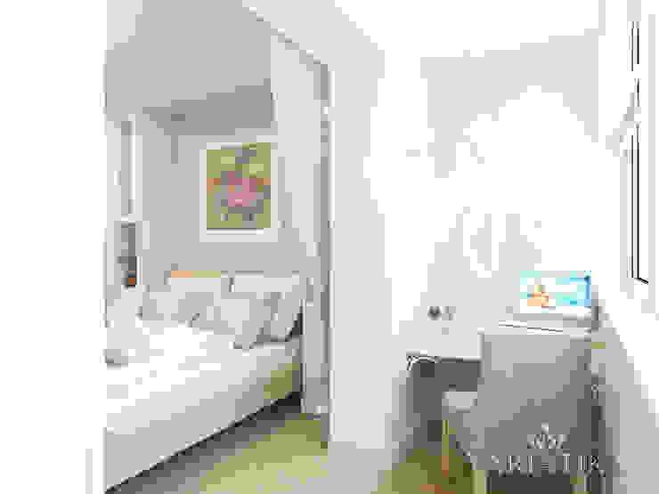 Дизайн интерьера квартиры площадью в г.Мытищи, 100 кв.м. Балкон и терраса в классическом стиле от variatika Классический