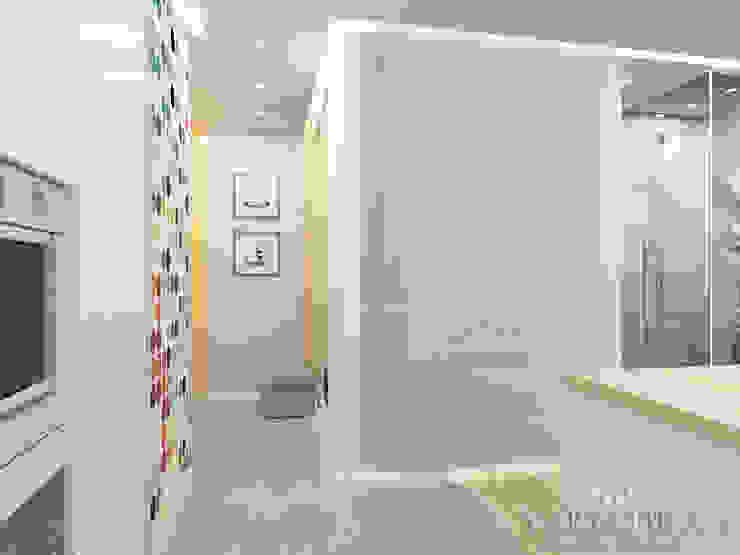 Дизайн квартиры в ЖК Арт, 44 кв.м. Коридор, прихожая и лестница в стиле минимализм от variatika Минимализм