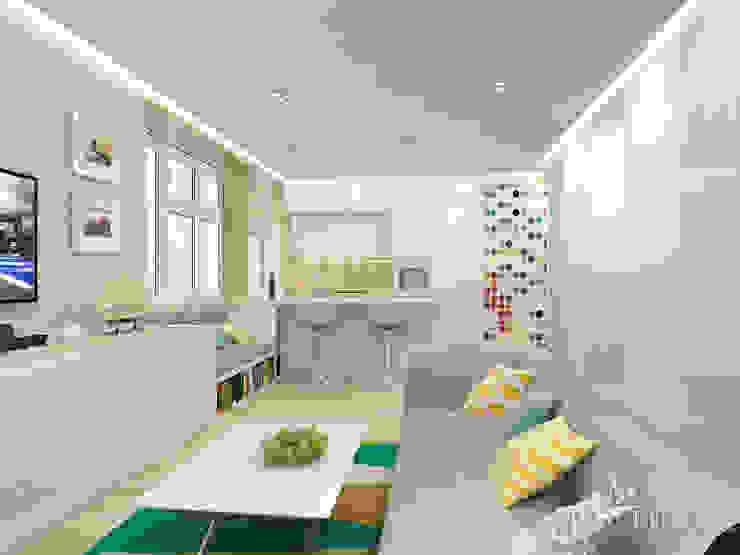 Дизайн квартиры в ЖК Арт, 44 кв.м. Гостиная в стиле минимализм от variatika Минимализм