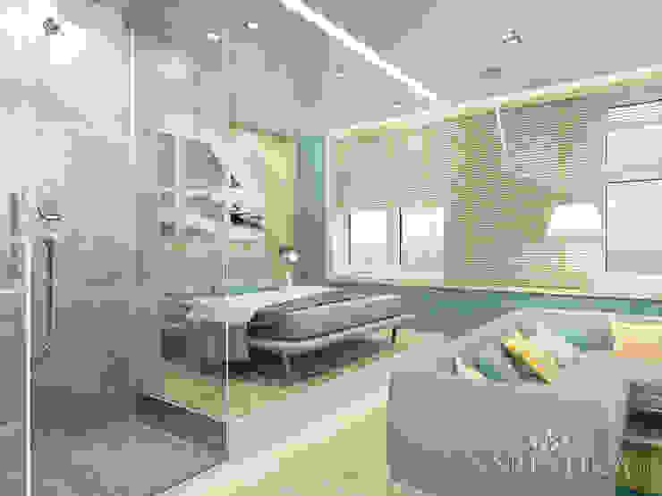 Дизайн квартиры в ЖК Арт, 44 кв.м. Спальня в стиле минимализм от variatika Минимализм