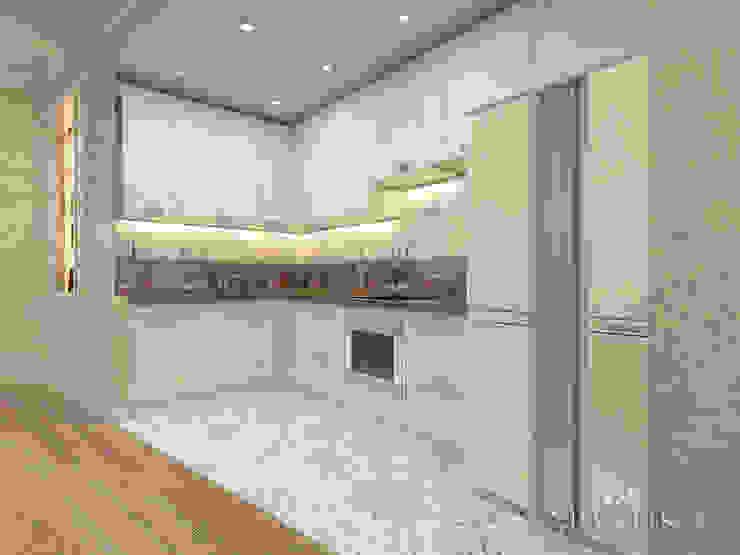 ЖК Вешняки – 100 м² Кухни в эклектичном стиле от variatika Эклектичный
