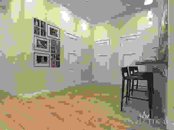 ЖК Вешняки – 100 м² Коридор, прихожая и лестница в эклектичном стиле от variatika Эклектичный