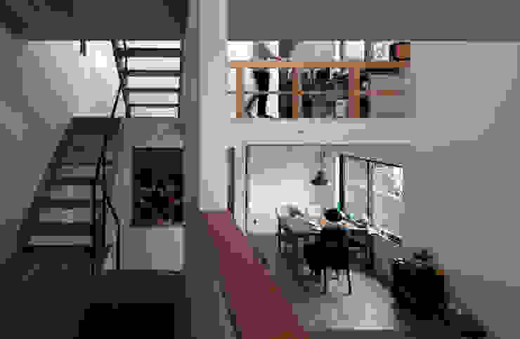 モグラハウス モダンデザインの ダイニング の 藤森大作建築設計事務所 モダン