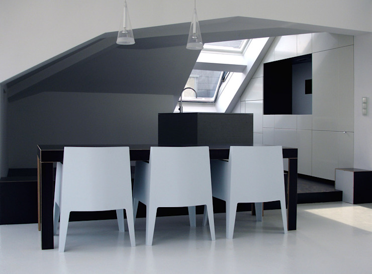 flat Moderne Küchen von bergnerdesign Modern