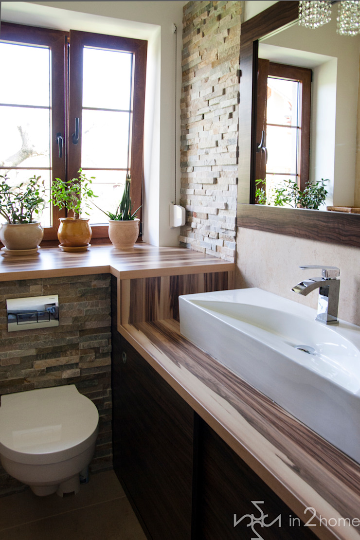Eclectic style bathroom by in2home Eclectic Stone