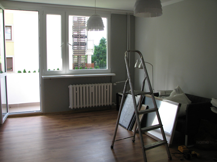 Salon i jadalnia przed Home Stagingiem od in2home