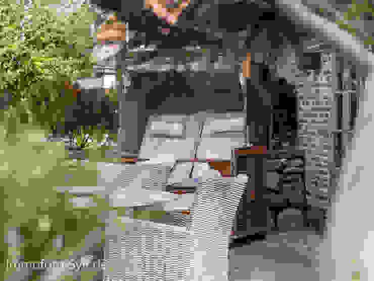 Immofoto-Sylt Balcone, Veranda & Terrazza in stile rurale