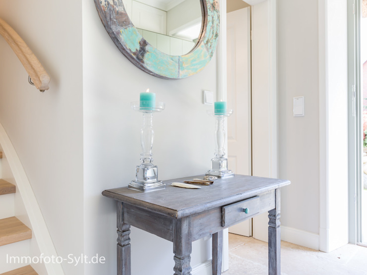 Immofoto-Sylt Ingresso, Corridoio & Scale in stile rurale