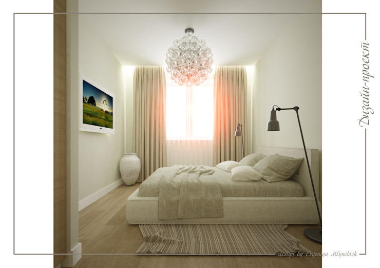 Sweet home Спальня в стиле минимализм от mlynchyk interiors Минимализм