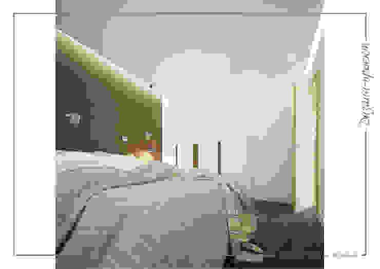 Темное-не значит темно, светлое -не значит стерильно Спальня в стиле минимализм от mlynchyk interiors Минимализм