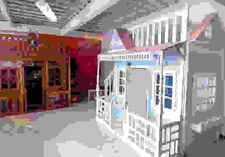 Hermosas casitas infantiles de Kids Wolrd- Recamaras Literas y Muebles para niños Clásico Madera Acabado en madera
