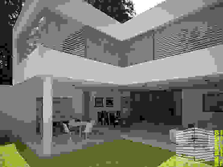 TERRAZA Balcones y terrazas modernos de HHRG ARQUITECTOS Moderno