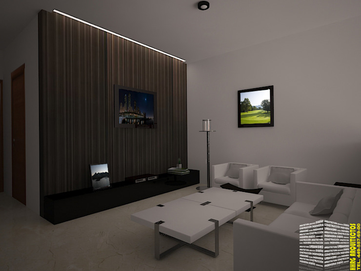 SALA DE TV Salas de estilo minimalista de HHRG ARQUITECTOS Minimalista