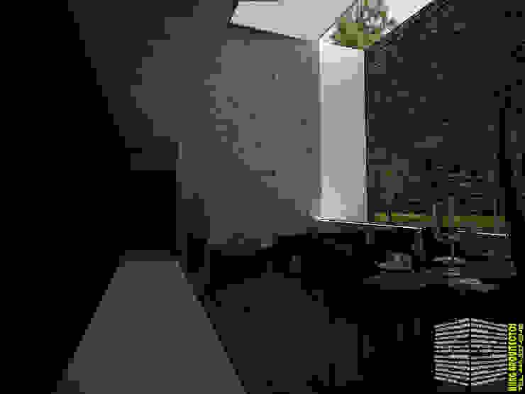 Salones de estilo moderno de HHRG ARQUITECTOS Moderno
