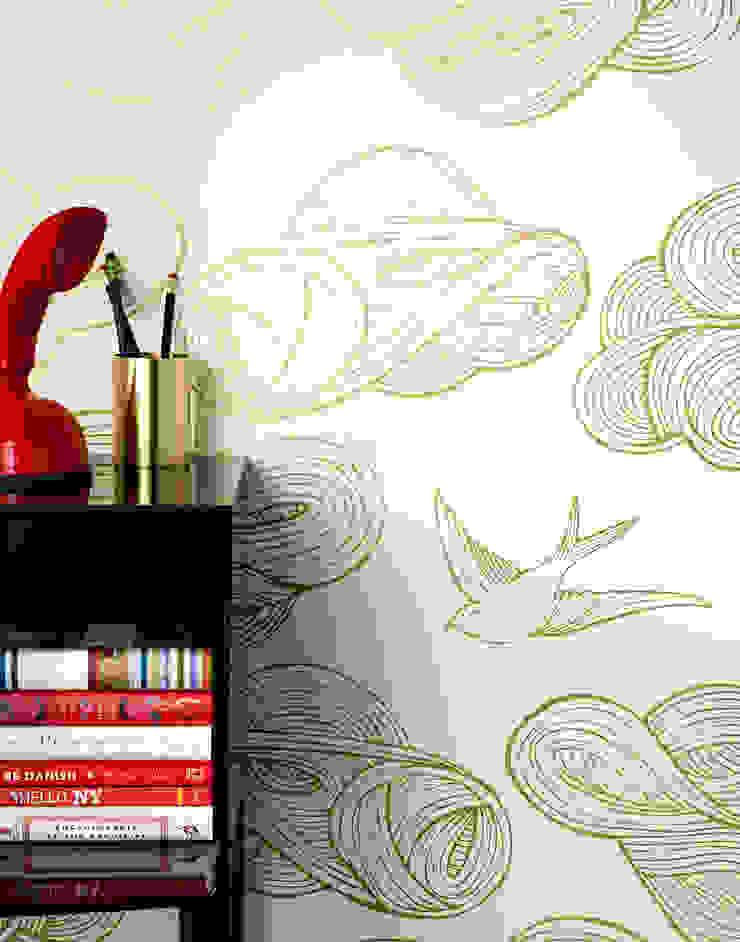 Daydream Wallpaper - Gold od Monument Interiors Eklektyczny Papier