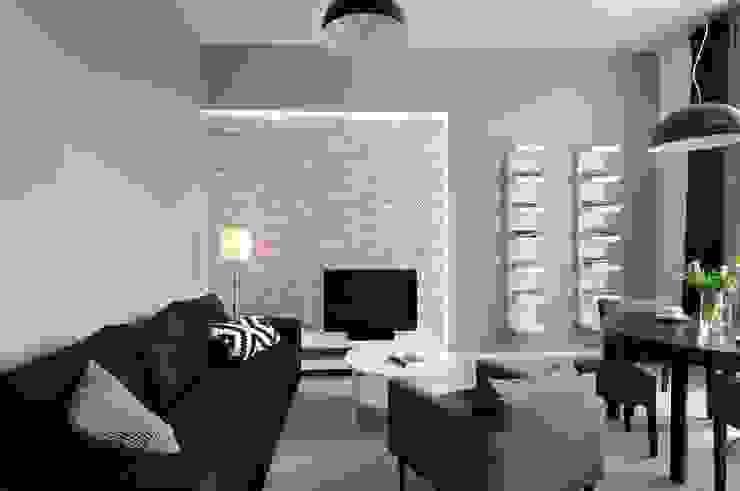 Living room by ARTEMA  PRACOWANIA ARCHITEKTURY  WNĘTRZ , Modern