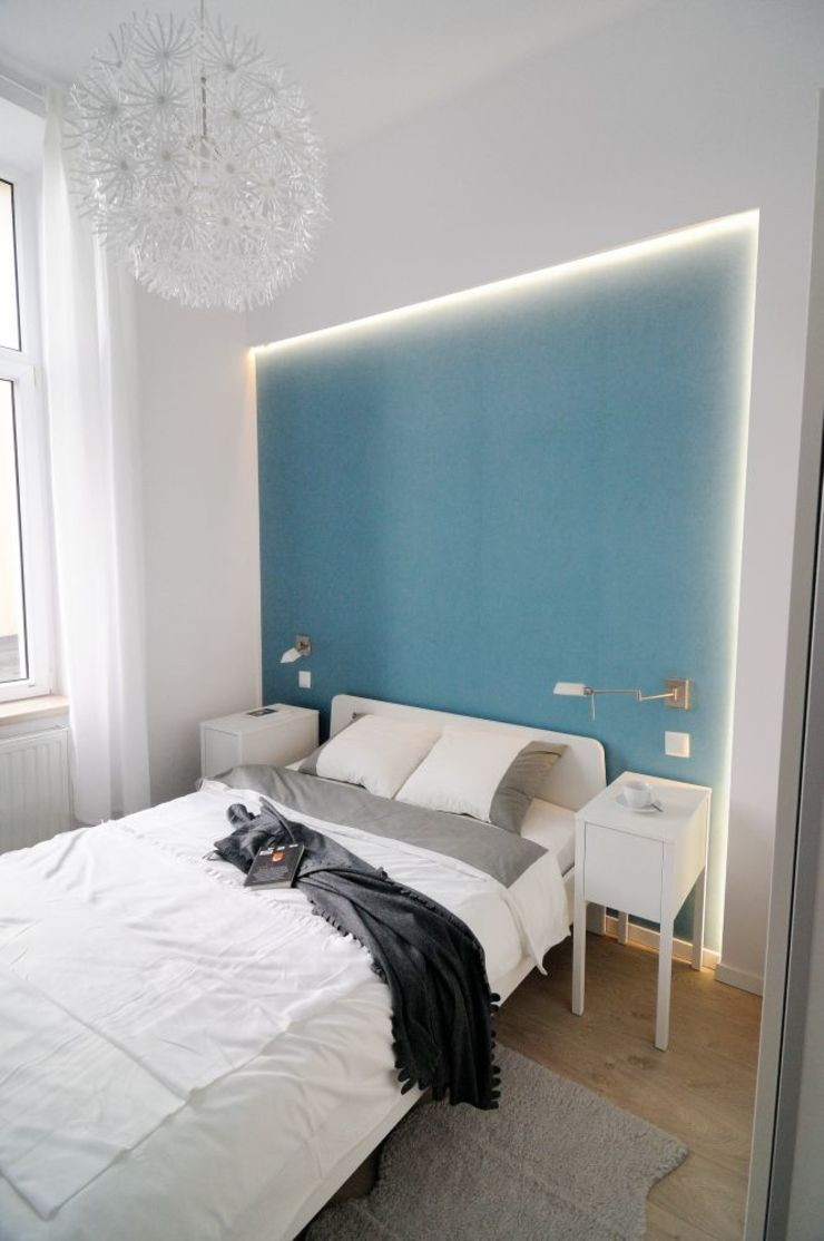 ARTEMA PRACOWANIA ARCHITEKTURY WNĘTRZ Modern Bedroom Blue