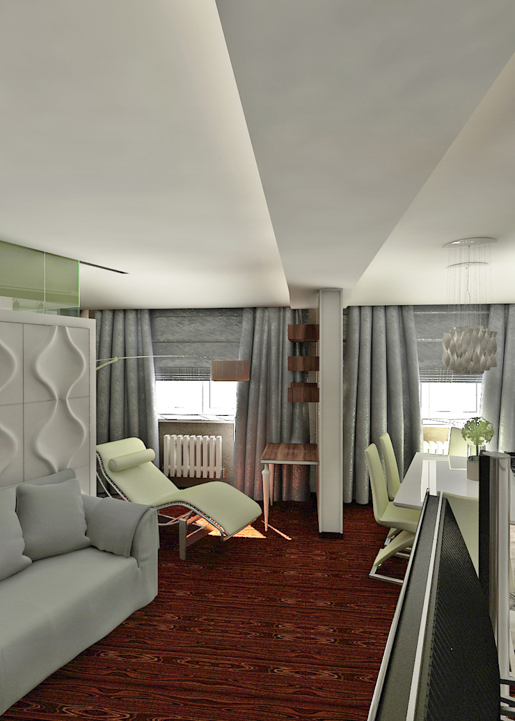 дизайн интерьера Гостиная в стиле минимализм от Частный архитектор, дизайнер Минимализм