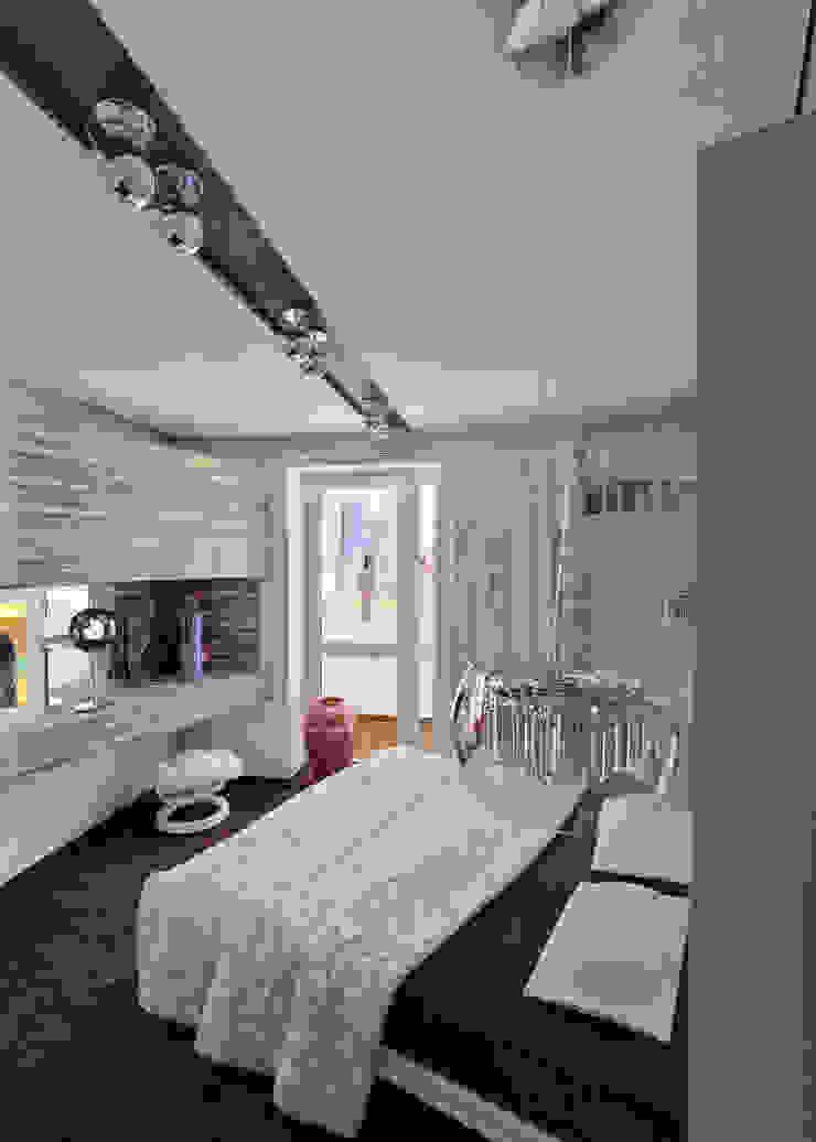 Minimalistyczna sypialnia od Частный архитектор, дизайнер Minimalistyczny