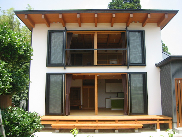 青戸信雄建築研究所 Classic style houses Wood Wood effect
