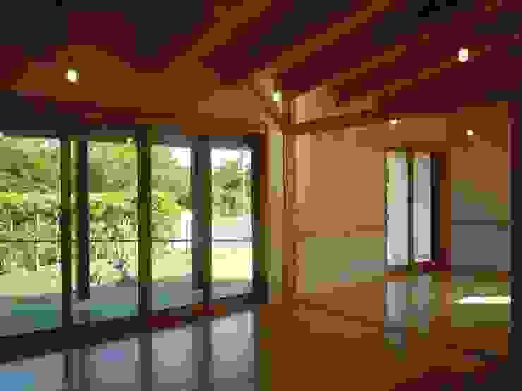 南側開口部を見る クラシックデザインの リビング の 青戸信雄建築研究所 クラシック 無垢材 多色