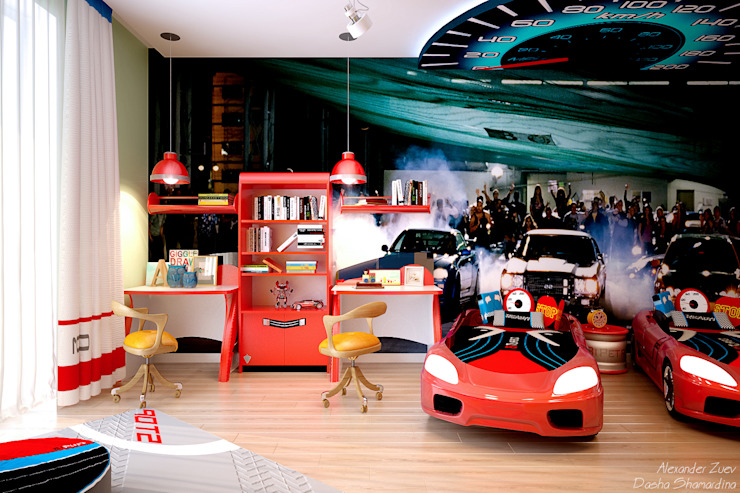 Cuartos infantiles de estilo moderno de Студия интерьерного дизайна happy.design Moderno