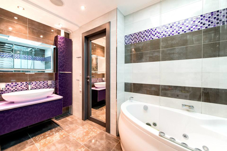 Classic style bathrooms by Ольга Макарова (Экодизайн) Classic