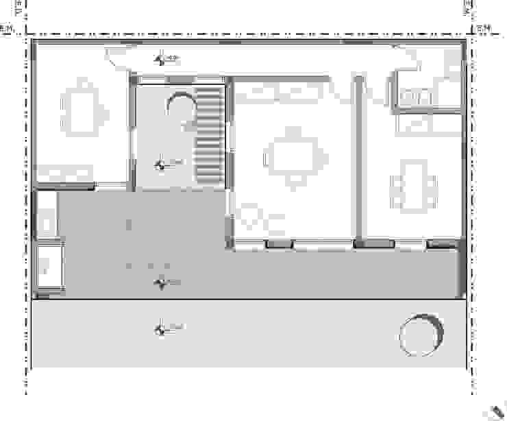 Casas de estilo  por Estudio Moirë arqs., Moderno