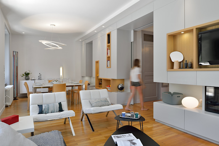 Modern dining room by Tymeno Modern