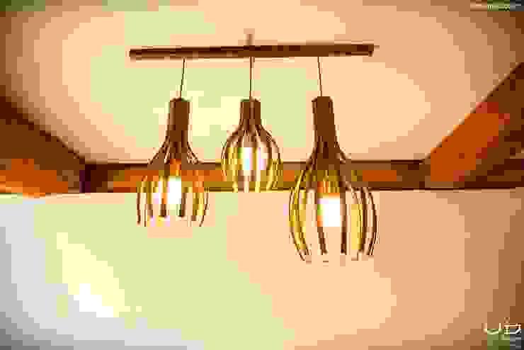 월넛 행잉 펜던트 조명 _ Curve Pendant Lighting : 유닛디자인의 현대 ,모던 우드 우드 그레인