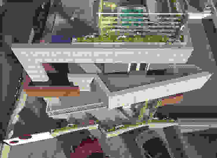 Modern balcony, veranda & terrace by a5studio Modern