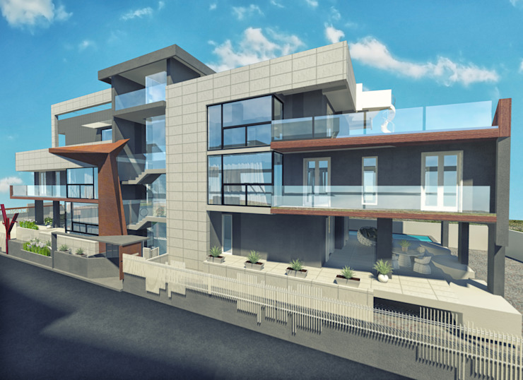 Concrea residenze a5studio Case moderne