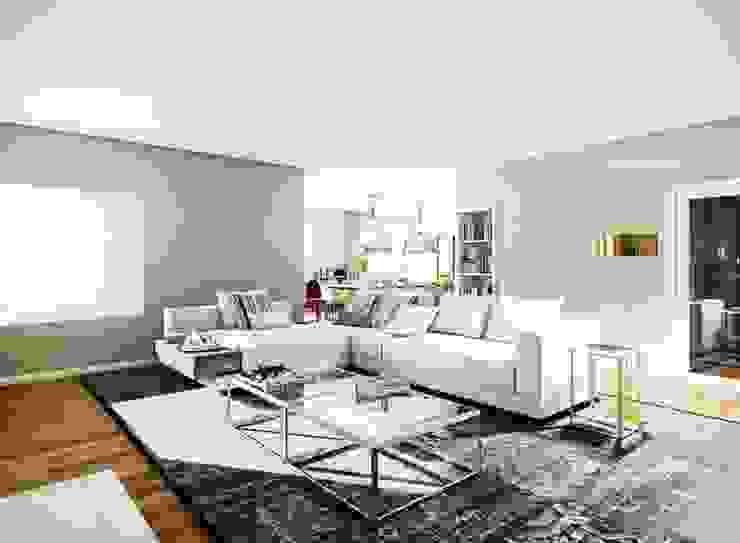 Moradia no Porto Salas de estar modernas por Vilaça Interiores Moderno