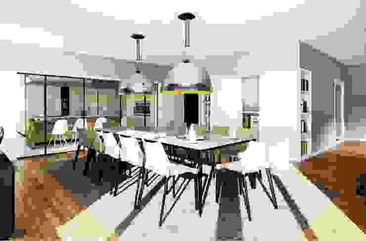 Moradia no Porto Salas de jantar modernas por Vilaça Interiores Moderno