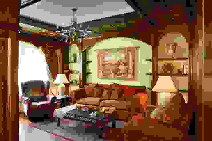 Баня в английском стиле: Гостиная в . Автор – RRdesign
