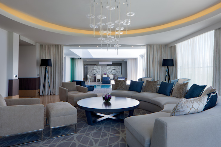 Presidential Suite Lounge Mediterranean style houses by Rethink Interiors Ltd Mediterranean