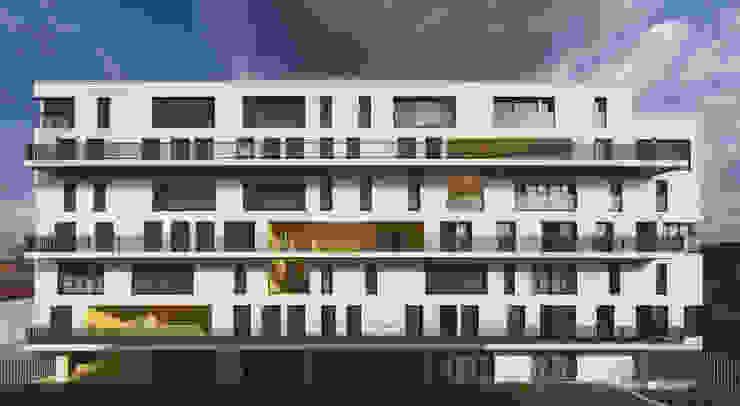 6_VUE FRONTALE COTE JARDIN par sophie delhay architectes